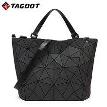 New Irregular Luminous Lingge Geometric baobao bags women Bucket Ladies Bao Bao bags  folding handbags bolso baobao Casual totes
