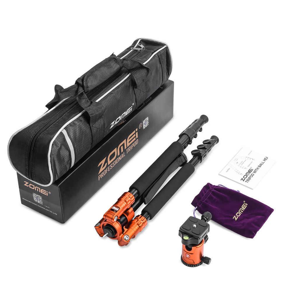 Zomei M7 Профессиональный усиленный алюминиевая камера штатив монопод 63 дюймов с мячом headDSLR путешествия штатив для ЦЗК Камера стенд