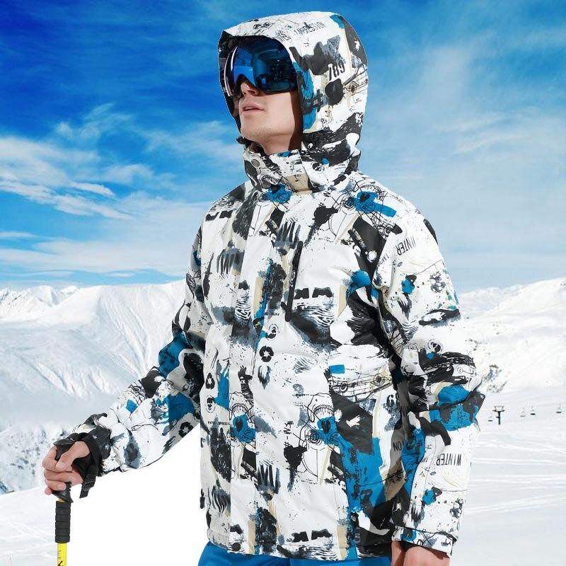 Marques Hiver Ski Costume Hommes de Ski Veste et Pantalon Étanche Super Chaud Snowboard Costumes Neige Ski et Snowboard Veste pour homme