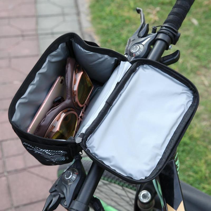 <font><b>Bike</b></font> Bag Bicycle Front Handlebar Bags Touch Screen Phone Holder MTB Road <font><b>Bike</b></font> <font><b>Case</b></font> Bicycle Accessories Cycling Pouch image