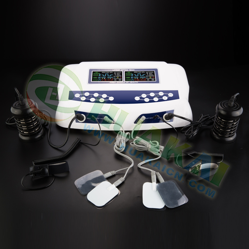 Chi foot spa ion cleanse with dual LCD for dual user new with low frequency ion cleanse foot spa