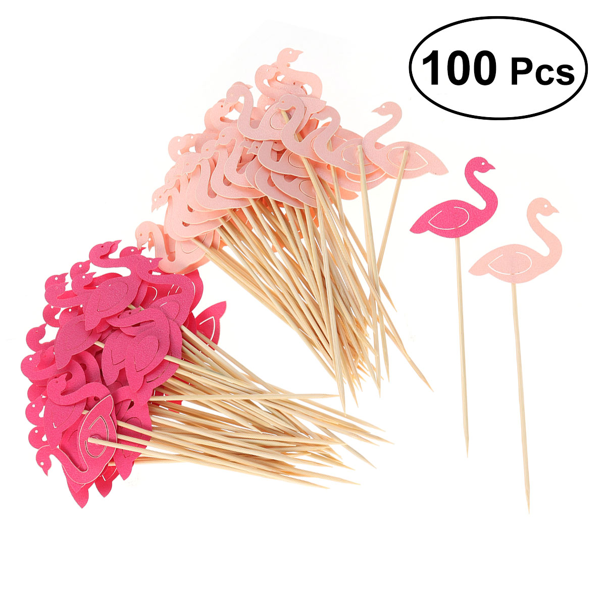 100 Pcs Stylish Flamingo Cake Toppers Attractive Chic Dessert Topper Cake Picks Cupcake Decoration for Dessert Decoration cell free dna in cancer