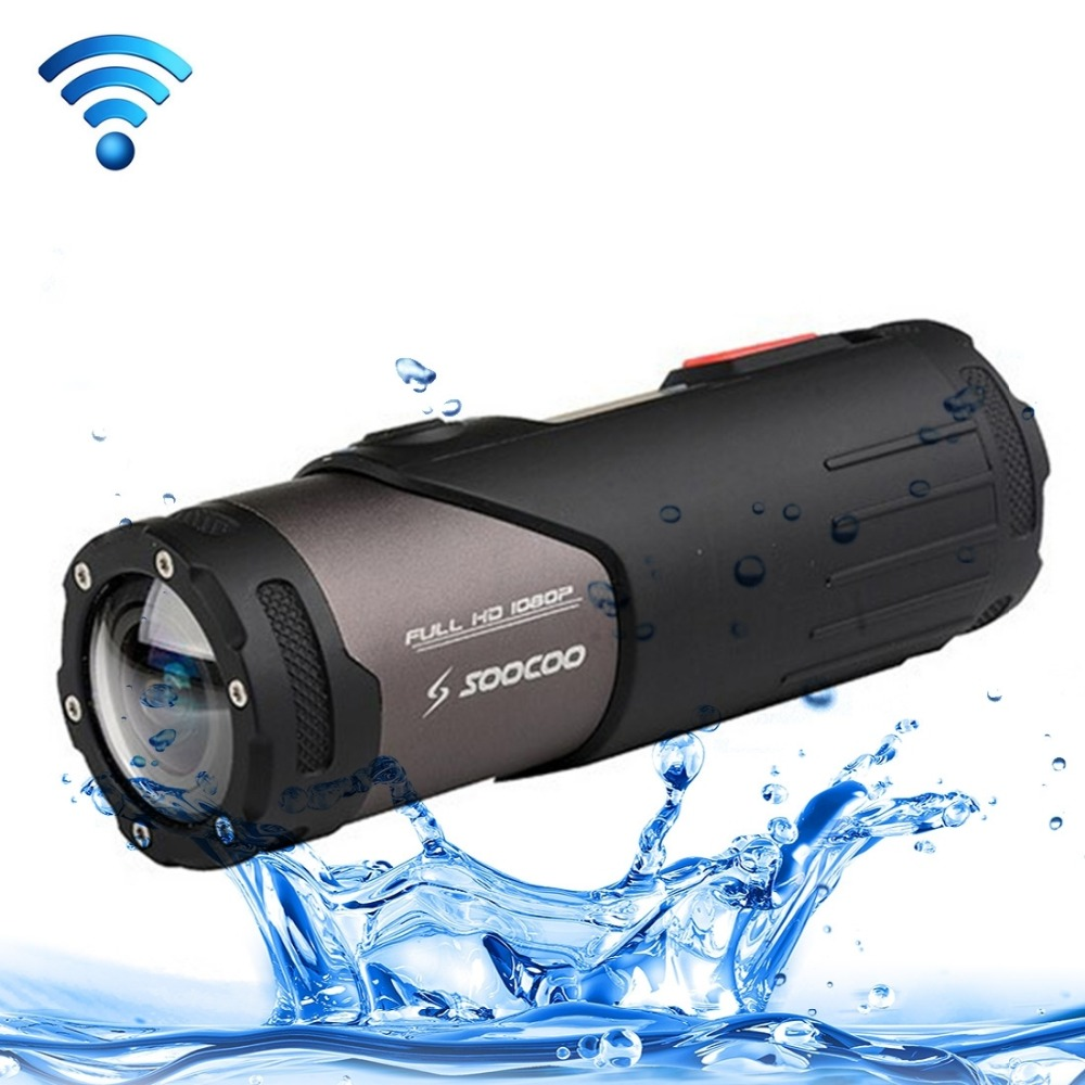 SOOCOO S20WS HD 1080P WiFi Sports Action Camera, 170 Degrees Wide Angle Lens, 15m Waterproof camera soocoo action camera c20 full hd 1080p wifi waterproof 170 wide angle sports cam extra aluminum extendable pole stick bag