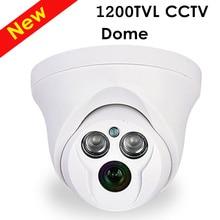 freeshipping 1200TVL CCTV Camera analog Indoor Chamber 1/3 CCD 2pcs Leds Dome Camera CCTV System