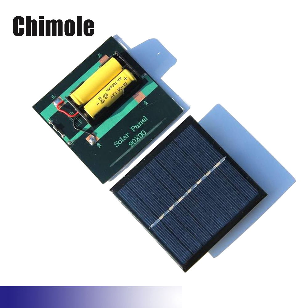 1W 2V 4V Solar Cell Chargers For AA AAA Rechargeable Battery 90*90mm 1W 2V 4V Solar Panel Batteries Charging