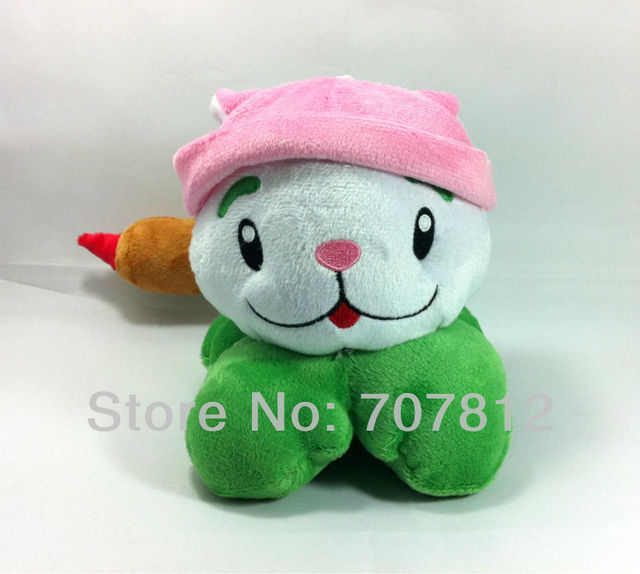 "Plants Vs Zombies toy  Plush Doll decorations soft stuffed toys Cattail 6"" cute plush  toys for children free shipping"