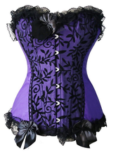 Slimming waist shaper Vintage Floral Sexy Women Bustier Lace up Top Buckle Overbust Corset Lingerie White/Purple/Green S-6XL цена 2017