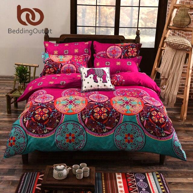 Beddingoutlet Bohemian Bedding Set Soft Colored Bedclothes For Home Boho Duvet Cover Bedlinen 4pcs Twin Queen
