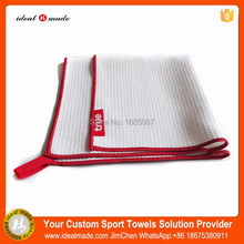China Hot Sale Microfiber High Quality Plain Dyed Golf Towel