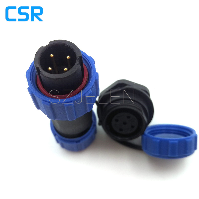 SP1310  Waterproof & Dustproof Aviation Connector,IP68,Cable Connector+Rear mount,LED power Plug and socket 4 pin,wire connector free shipping 10pcs lt1012acn8 lt1012cn8 dip8 in stock