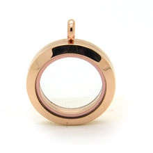 Gratis Verzending 316L Rvs Ronde Mini Rose Golden Gold Magnetische Glas Drijvende Charmes Medaillon 20Mm(China)