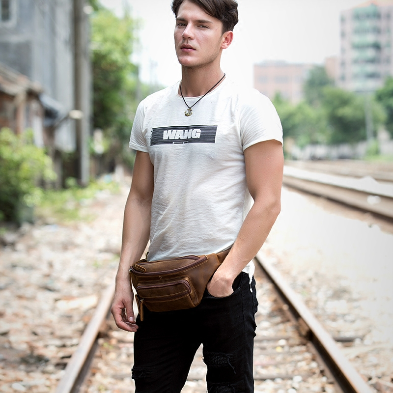 mens fanny back leather