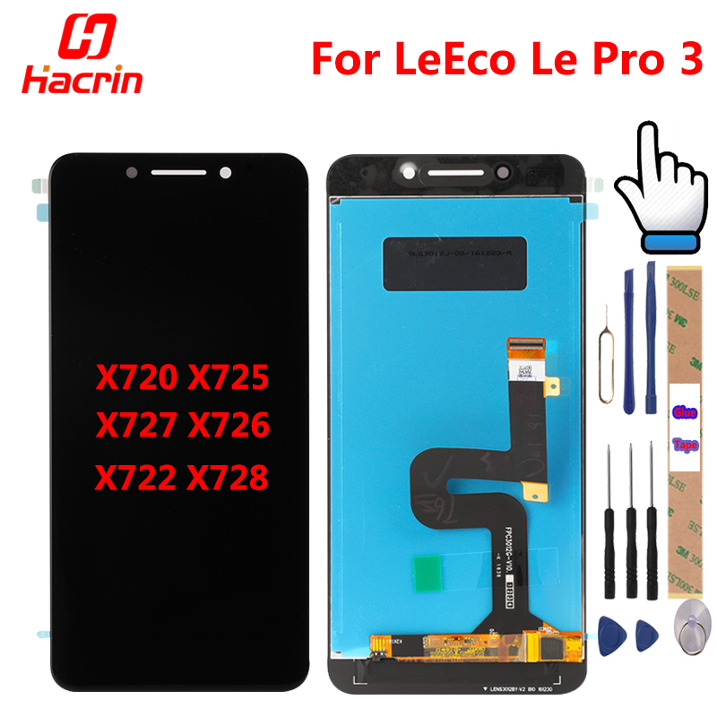 LeEco Le Pro 3 LCD Display Touch Screen Digitizer Assembly di Ricambio Per Letv X720 X725 X727 X726 X722 X728