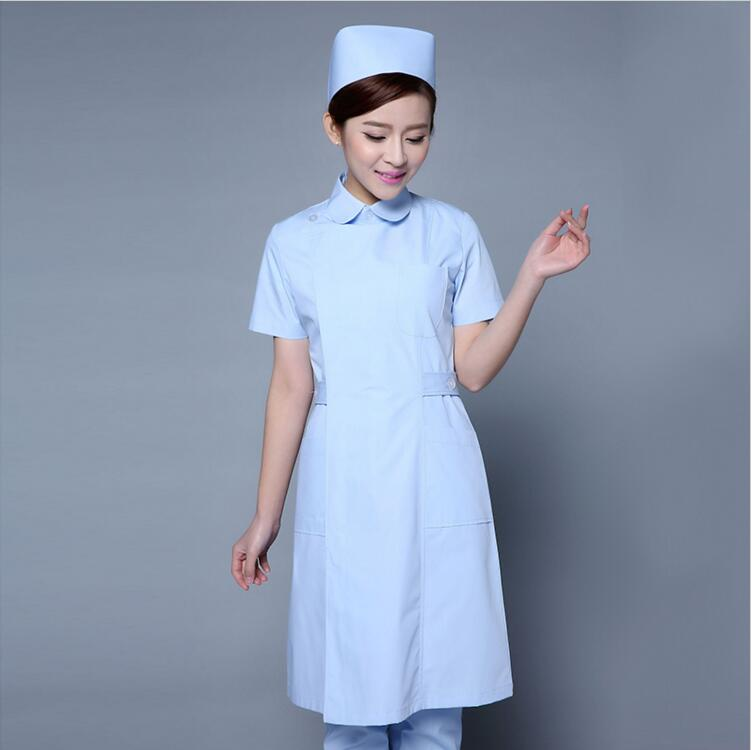 Summer Women Hospital Medical Scrub Clothes Coat Beauty Salon Nurse Uniform Fashionable Design for