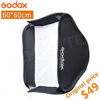 Godox 60*60 cm difusor de Flash Photo Studio Softbox caja suave para Flash Speedlite sin tipo S soporte Bowen titular