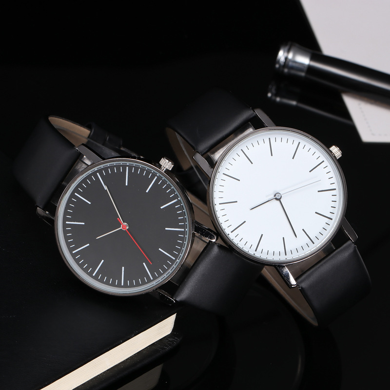 2019 New Couples Watch Simple Leather Quartz Watch Men Women Fashion Casual Dress Business Wrist Watches Relogio Masculino