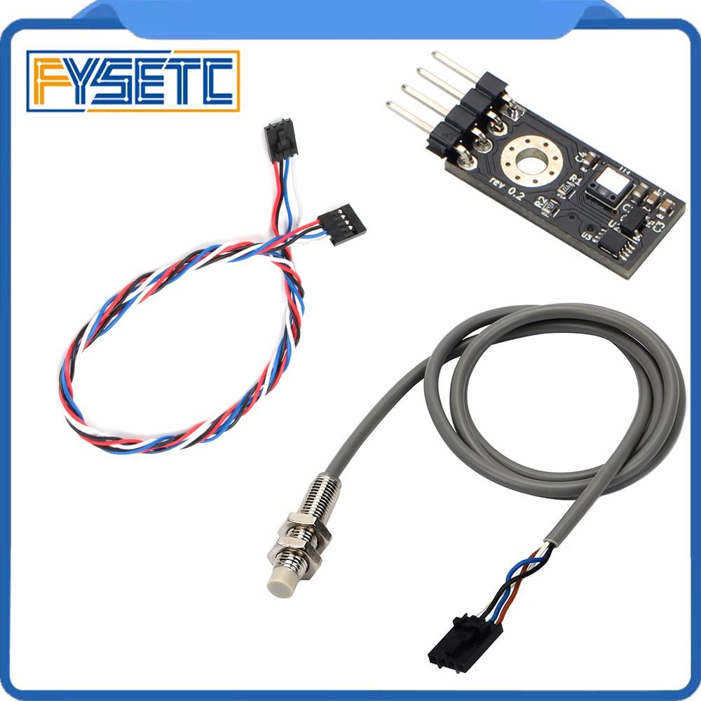 1Set Prusa I3 Laser Sensor 3D Printer Filament Sensor Detect Stuck Filament With Cable And PINDA V2 Sensor Kit For Prusa I3 MK3