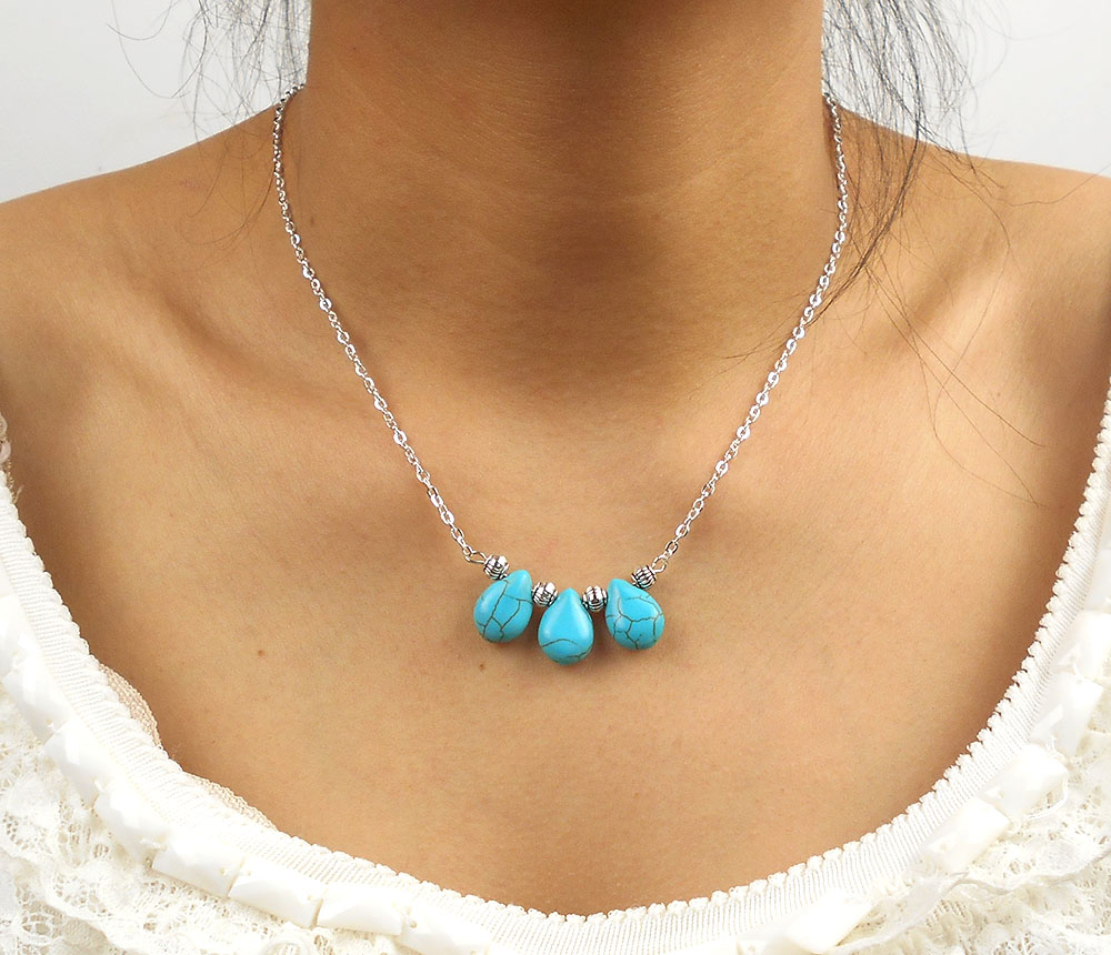 Big chest necklace CCB Bead Necklace Teardrop Necklace For Women Sexy Charm Necklace gift