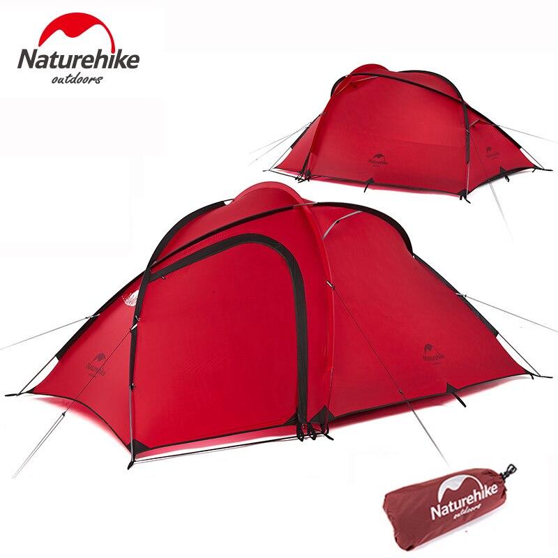 Naturehike палатки Открытый туристическое снаряжение 3 человек Сверхлегкий Палатка Водонепроницаемый 4 сезон Пеший Туризм туристический Семья
