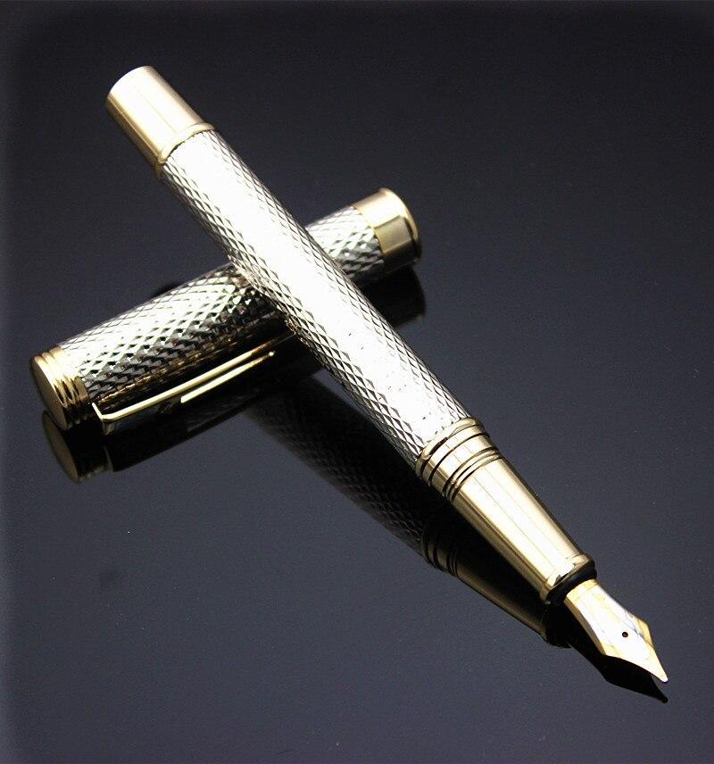 Noble Silver Gift Pen Crocodile 218 Medium Nib Fountain Pen
