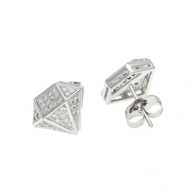 Hip Hop Full Iced Out Cz Simulated Diamonds Earring Silver Color Irregular Copper Earring High Quality.jpg 640x640 - Hip Hop Full Iced Out Cz Simulated Diamonds Earring Silver Color Irregular Copper Earring High Quality Women Accessories