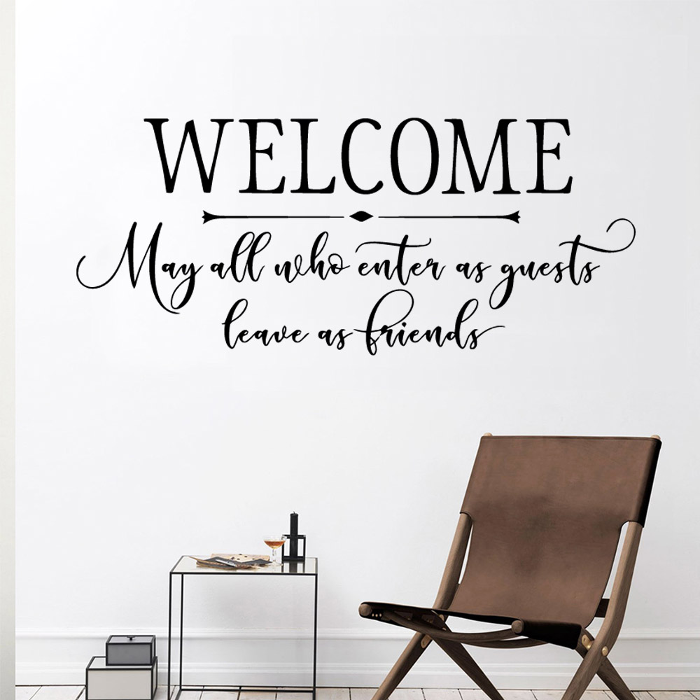 Hot Welcome Decal Removable Vinyl Mural Poster For Kids Rooms Decoration Sticker Mural in Wall Stickers from Home Garden