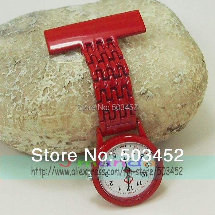 100pcs lot 8 Colors Bright Material Paint Nurse Watch Candy Color Quartz Medical Watch Fashion Ladies