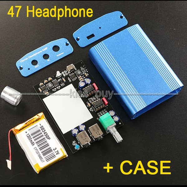 Mini Clássico 47 Amplificador De Auscultadores Estéreo de Alta Fidelidade 47 Amp amplificador KIT DIY + escudo de alumínio