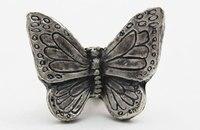 Butterfly Dresser Ciągnie Gałki Antyczne Srebro Uchwyty Szafek Kuchennych Ciągnie Gałki Klamki Zabytkowe Meble Sprzętu