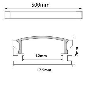 Image 4 - 2 30 комплектов/упаковка 0,5 м 12 мм с алюминиевыми профилями для 5050 5630 светодиодный алюминиевый сплав плоский корпус + крышка ПК