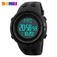 SKMEI New Men S Sports Watches Luxury Outdoor Pedometer Watch Casual Military Men Dual Time Display