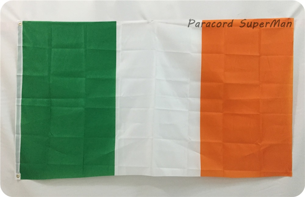 북 아일랜드 아일랜드 삼색 배너 3 피트 x 5 피트 매달려 플래그 폴리 에스테르 아일랜드 국기 배너 150x90 센치 메터 축하