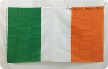 Northern Ireland Irish tricolour Banner 3ft x 5ft Hanging Flag Polyester Ireland National Flag Banner 150x90cm for Celebration