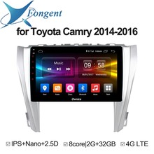 For Toyota Camry 2014 2015 2016 Car Android Auto DVD GPS Navigator Multimedia Radio Player Stereo Audio On-Board Computer PC Pad