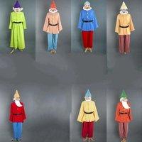 Фильм аниме косплей костюм Белоснежки и семь гномов Хэллоуин Карнавал вечерние с бесплатной бородой