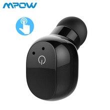 Mpow EM12 сенсорное управление одиночные наушники-вкладыши беспроводные Bluetooth V4.2 наушники с микрофоном чехол для водителя мобильного телефона Android iOS