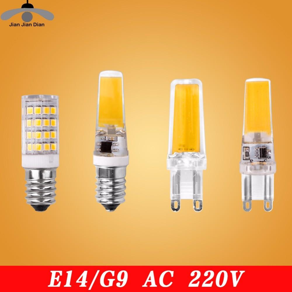 Led G4 G9 E14 Lamp Bulb Dimming Lighting AC DC 12V 220V 3W 6W 9W COB SMD Replace Halogen Lights Spotlight Bombillas Chandelier iminovo 20 pack e14 led light bulb ac 220v 6w 2835 smd ceramics spotlight replace halogen spotlight chandelier warm cool white