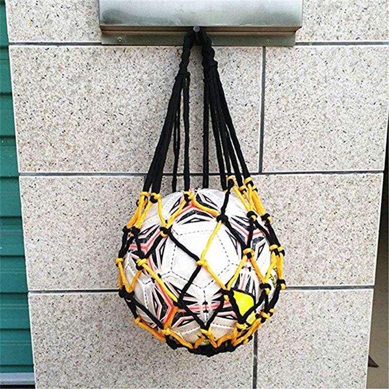 Sports Soccer Mesh Net Bag Basketball Volleyball Soccer Net Load 1 Ball Soccer Ball Pocket Portable Small Net