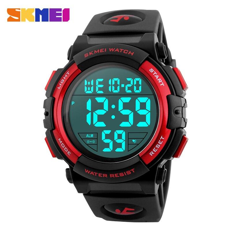Skmei 1258 мужчины цифровые наручные часы большой циферблат 50 м водонепроницаемый хронограф мужские часы открытый спортивные часы Relogio Masculino