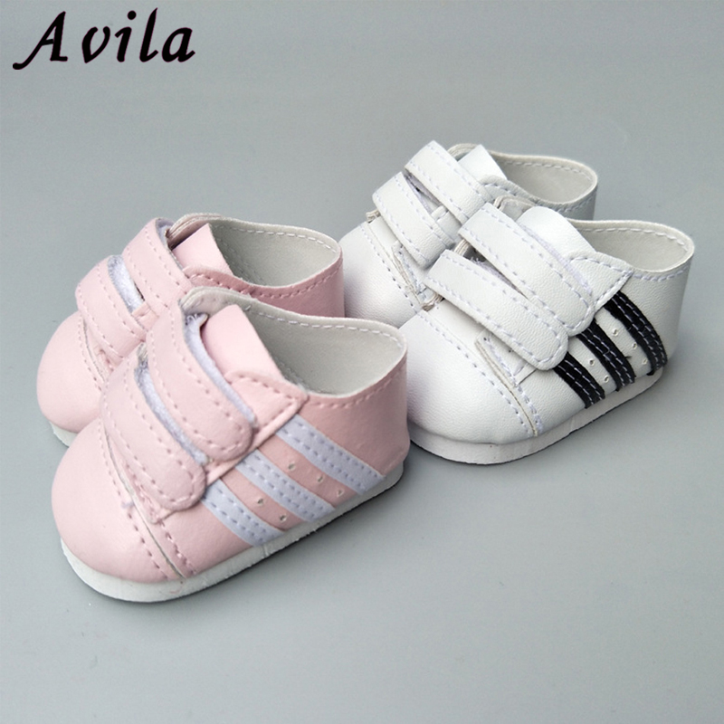 7cm Doll Shoes American Sport PU Shoe Baby Toys Fit 18 Inch Girl And 43 Cm Baby Doll Accessories