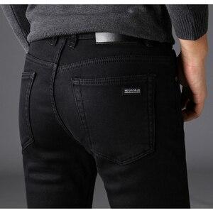 Image 1 - Nhãn hiệu Quần Jean Quần Người Đàn Ông Quần Áo Màu Đen Đàn Hồi Skinny Jeans Kinh Doanh Bình Thường Nam Denim Mỏng Quần Phong Cách Cổ Điển 2018 New
