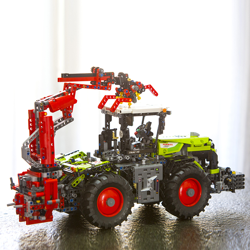 LEPIN 20009 Technic Tractors Model Motorized XERION 5000 TRAC VC 1977pcs 2in1 Functions 42054 Building Blocks Bricks Kids Toys