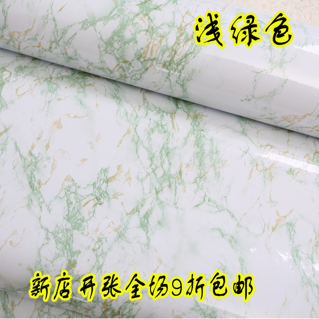 Discounted Decorative Films Stickers Wall Decor Green Marble