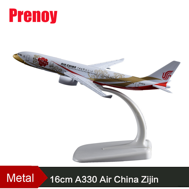 16cm A330 Air China Purple Golden Airplane Model Metal China Airways Aircraft Model B-6075 Airbus Aviation Plane Model Souvenir