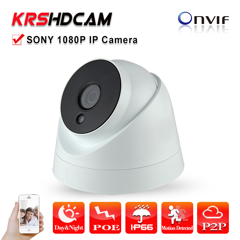 2.0MP IP camera Full HD1080P POE ONVIF 2.0MP indoor Plastic dome Security CCTV  Support Phone Android IOS cameras de seguridad