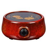Hot Plates Red glaze electric ceramic furnace iron pot boiling tea water bubble furnace.