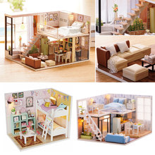 Elegant DIY Doll House Miniature DIY Dollhouse Kit Model With Furnitures Toys 3D Wooden Handmade House Gift For Dolls Children#D(China)