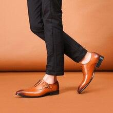Феликс Чу Новинка 2017 года ручной работы до середины икры корова натуральная кожа классический британский Оксфорд Обувь tan brown Представительская обувь для мужчин 185-85