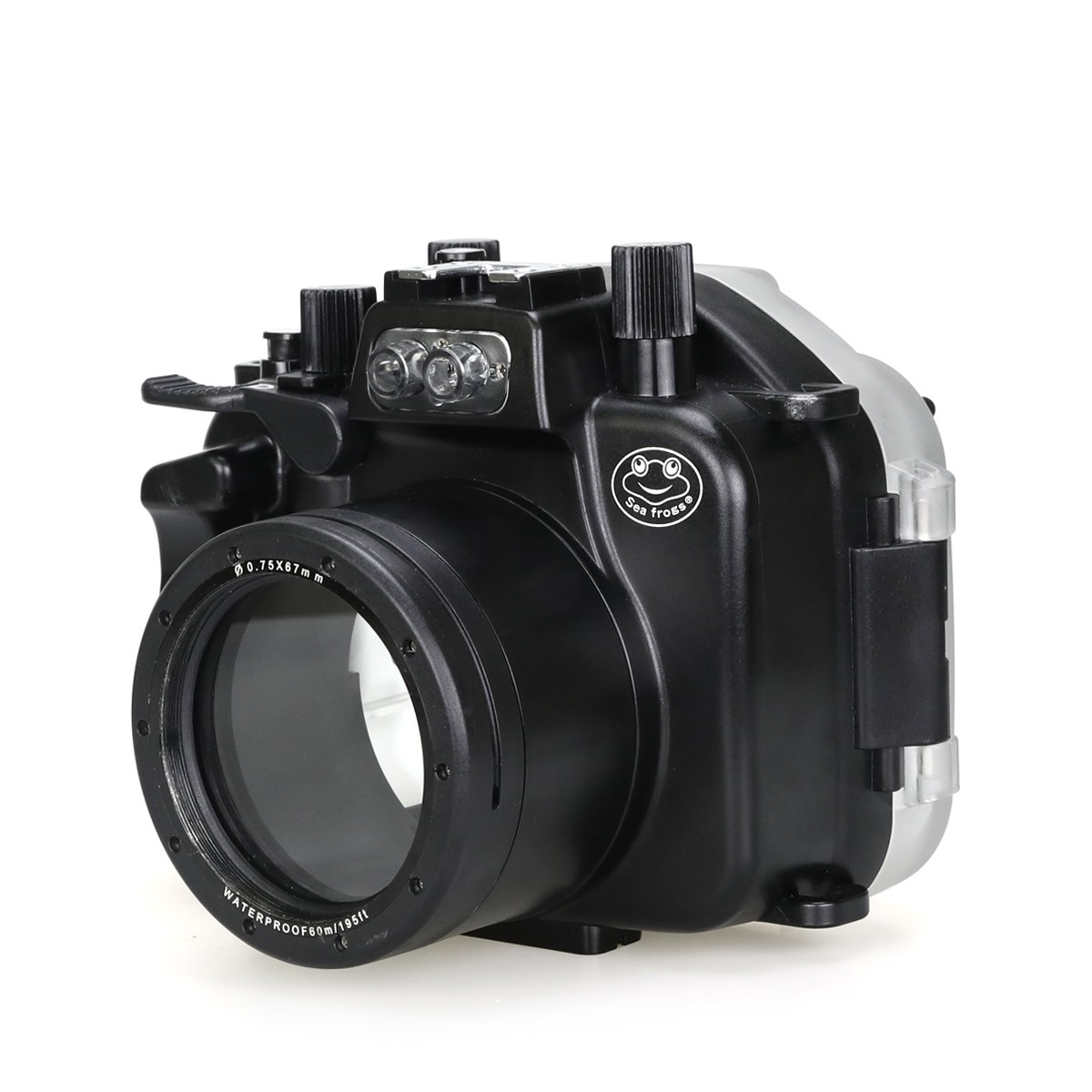 Meikon 40m/130ft Underwater Camera Housing For Canon EOS M5 18-55mm Lens meikon 40m wp dc44 waterproof underwater housing case 40m 130ft for canon g1x camera 18 as wp dc44