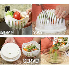 60 Second Salad Cutter Bowl Easy Salad Fruit Vegetable Washer And Cutter
